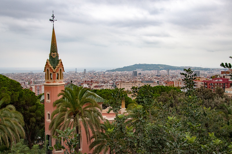 View from just inside Park Guell. This is where Antoni Gaudi lived and was originally intended to be a community for rich people.