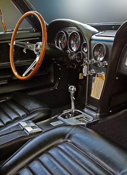 Interior of '66 Corvette
