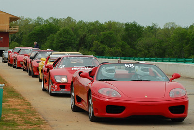 Ferraris lined to head out