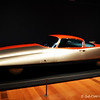 """""""CHRYSLER (GHIA) STREAMLINE X """"GILDA"""" (1955)<br /> <br /> Giovanni Savonuzzi (Italian, 1911-1987), designer<br /> Carrozzeria Ghia S.p.A., Italian, founded 1915, fabricator<br /> Collaboration with Chrysler Corporation, American, founded 1925<br /> Courtesy of Scott Grundfor and Kathleen Redmond, Arroyo Grande, California <br /> <br /> """"Chrysler partnered with the renowned Italian firm Carrozzeria Ghia to design a streamlined, wedged-shape automobile inspired by a small sculpture created by styling chief Virgil Exner, Sr. (on view nearby). The result was the 1955 Streamline """"X,"""" or – as its designer, Ghia technical director Giovanni Savonuzzi, nicknamed it – """"Gilda"""" (after Rita Hayworth's sleek title character in the film noir of the same name). """"<br /> <br /> """"Automotive styling was heavily influenced by jet aircraft and rocketry in the exuberant postwar era, and Exner wanted to prove that scientific, aerodynamic design was viable in the American marketplace. A one-fifth-scale plasticine model of the """"Gilda"""" was made by Savonuzzi for wind tunnel testing at the Polytechnic University of Turin. His studies determined that the tapered tail fins improved directional stability in crosswinds at high speeds. The completed """"Gilda"""" illustrated the marriage of scientific aerodynamics with the aesthetics and styling of streamlining.""""<br /> <br /> """"The """"Gilda"""" debuted at the 1955 Salone dell'automobile di Torino (the Turin automobile show), where it was hailed as """"shaped by the wind"""" and caused a sensation with its """"experimental body."""" The car went on to tour the European show circuit to great acclaim before it was shipped to the United States that October for permanent display at the Henry Ford Museum.""""<br /> <br /> Reprinted information from here: <a href=""""http://www.high.org/Art/Exhibitions/Dream-Cars.aspx"""">http://www.high.org/Art/Exhibitions/Dream-Cars.aspx</a><br /> <br /> High Museum of Art<br /> 1280 Peachtree Street, N.E. <br /> Atlanta, GA 30309<br /> Official website"""