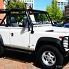 """1997 LAND ROVER DEFENDER 90""<br /> Owner: David Turner<br /> Jackson, MS<br /> <br /> 5th Annual ""EURO FEST AUTO SHOW"" 2013<br /> <br /> Renaissance at Colony Park <br /> Ridgeland, Mississippi"