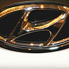 """HYUNDAI"" Logo<br /> <br /> Why is it that........""Anyone driving slower than you is an idiot, and anyone going faster than you is a maniac?"" ~  George Carlin<br /> <br /> ""Motor Trend's Memphis International Auto Show"" 2014<br /> Memphis, TN"