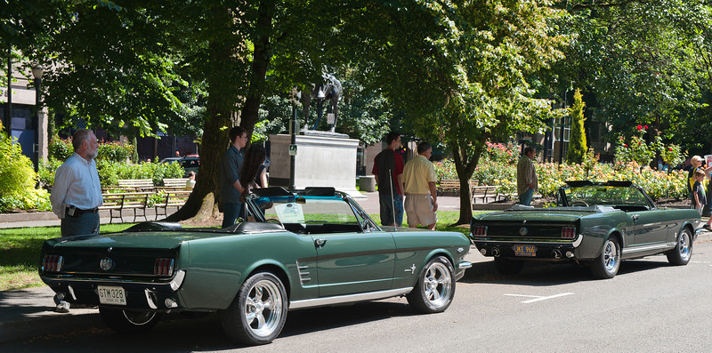 July 30, 2011 - Ford<br /> 1966 Mustang Convertible and 1966 Mustang Convertible GT