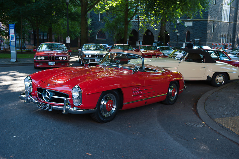 July 23, 2011 - Mercedes and BMW<br /> 195? M-B 300 SL