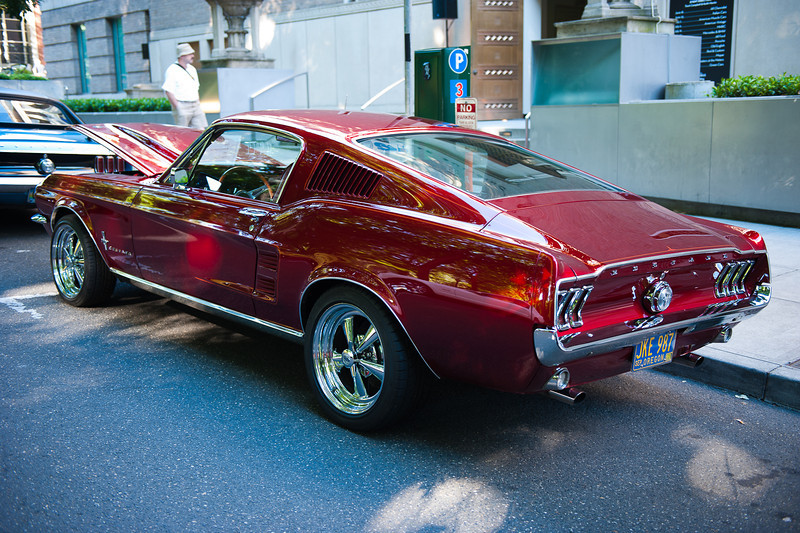 July 2, 2011 - American Muscle Cars<br /> '67 Mustang - a very unusual and striking Candy Apple Red paint job
