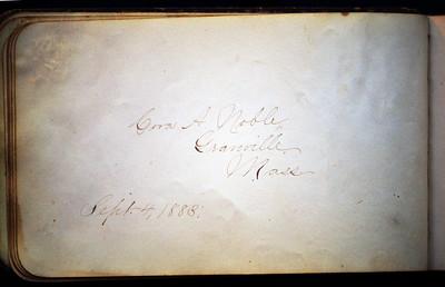Cora A. Noble, Granville, Ma., 4 Sep 1883
