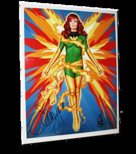 "Christy Hemme Autographed ""Phoenix"" Scott Blair Art Pin-Up Print"