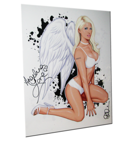 "Angelina Love Autographed ""Angel"" Scott Blair Art Pin-Up Print"