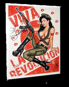 "Shelly Martinez Autographed ""Guerrilla Girl"" Scott Blair Art Pin-Up Print"