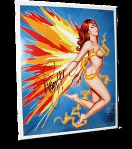 "Christy Hemme Autographed ""Phoenix Reborn"" Scott Blair Art Pin-Up Print"