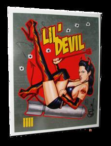 """Daffney Autographed """"Lil Devil"""" Scott Blair Art Pin-Up Print"""