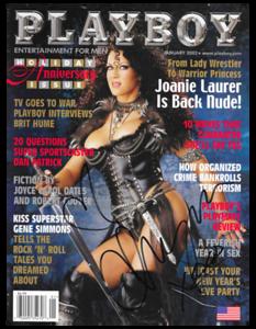 Joanie Laurer aka Chyna Autographed January 2002 PLAYBOY Magazine