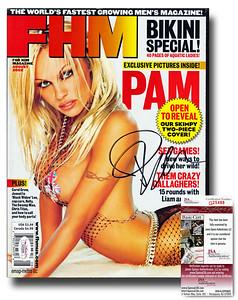Pamela Anderson Autographed FHM August 2002 Magazine - JSA Certified