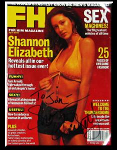 Shannon Elizabeth Autographed April 2001 FHM Magazine