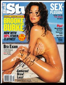 Brooke Burke Autographed August 2003 Stuff Magazine