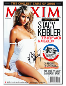 Stacy Keibler Autographed November 2008 MAXIM Magazie