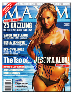 Jessica Alba Autographed November 2003 MAXIM Magazine