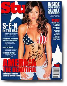 Brooke Burke Autographed November 2001 Stuff Magazine