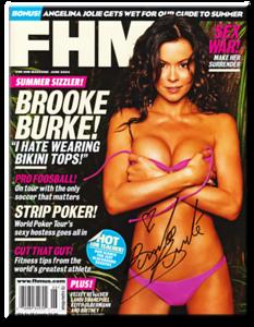 Brooke Burke Autographed June 2004 FHM Magazine