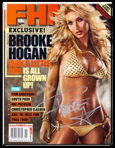 Brooke Hogan Autographed November 2006 FHM Magazine