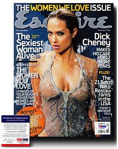 Angelina Jolie Autographed Esquire November 2004 Magazine - PSA Certified