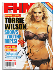 Torrie Wilson Autographed September 2006 FHM Magazine (ALT Cover)