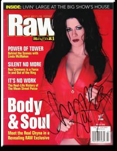 Chyna Autographed March 2000 WWF Raw Magazine