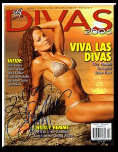 Christy Hemme Autographed WWE DIVAS 2005 Magazine