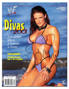 Lita Autographed WWE DIVAS 2001 Magazine
