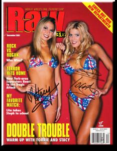 Stacy Keibler & Torrie Wilson Autographed December 2001 WWF Raw Magazine