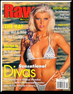 The Kat Autographed May 2000 WWF Raw Magazine