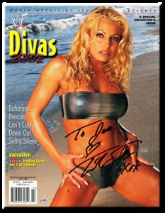 Trish Stratus Autographed WWE DIVAS 2002 Magazine