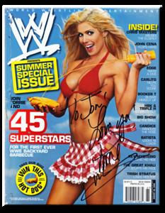 Torrie Wilson Autographed August 2006 WWE Magazine