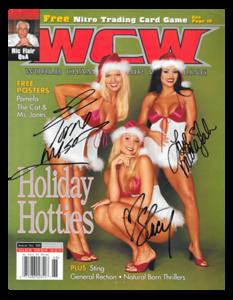 "Torrie Wilson, Stacy Keibler & Midajah Autographed WCW Wrestling ""Holiday Hotties"" December 2000 Magazine"