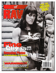 Chyna Autographed October 1998 WWF RAW Magazine