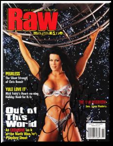 Chyna Autographed November 2000 WWF Raw Magazine
