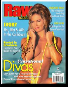 Ivory Autographed May 2000 WWF Raw Magazine