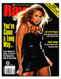 Stacy Keibler Autographed October 2003 WWE Raw Magazine
