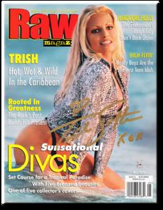 Trish Stratus Autographed May 2000 WWF Raw Magazine