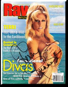 Terri Runnels Autographed May 2000 WWF Raw Magazine