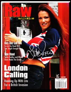 Lita Autographed July 2001 WWF Raw Magazine