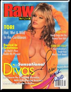 Tori Autographed May 2000 WWF Raw Magazine