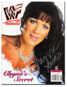 Chyna Autographed August 2000 WWF Magazine
