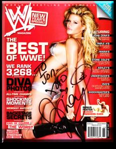 Ashley Massaro Autographed New Year's Special WWE Magazine