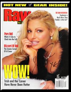 Trish Stratus Autographed April 2001 WWF Raw Magazine