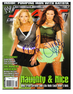 Trish Stratus & Lita Autographed December 2004 WWE RAW Magazine