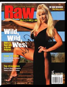 Debra Autographed December 2000 WWF Raw Magazine