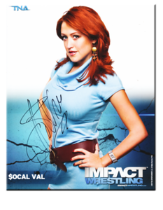 SoCal Val Autographed P-52B TNA IMPACT WRESTLING Promo Photo