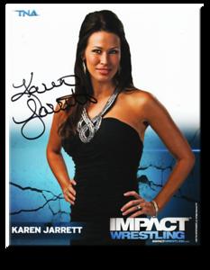 Karen Jarrett Autographed P-27 TNA IMPACT WRESTLING Promo Photo