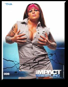 ODB Autographed P-72 TNA IMPACT WRESTLING Promo Photo